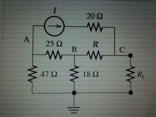 Assume that I=5.8A and R=16 ohms find the Theve