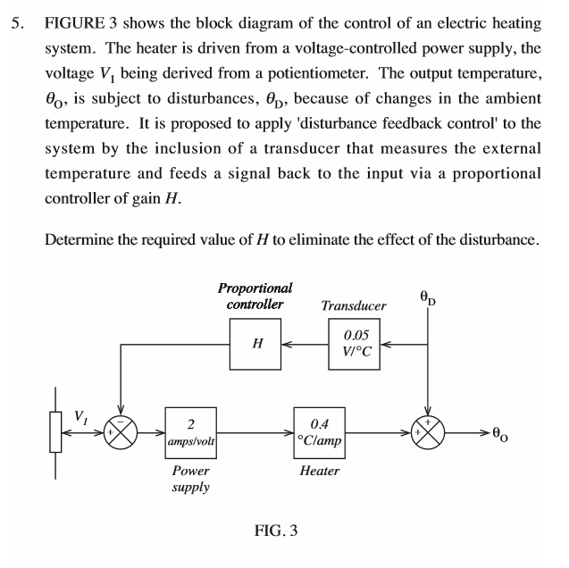 Solved 5 figure 3 shows the block diagram of the control figure 3 shows the block diagram of the control of an electric heating system ccuart Image collections
