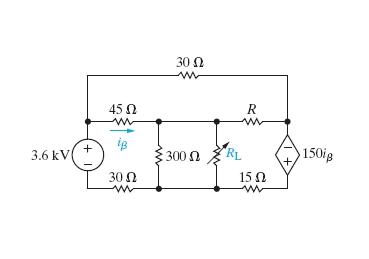 Solved: The Variable Resistor (RL) In The Circuit In (Figu ...