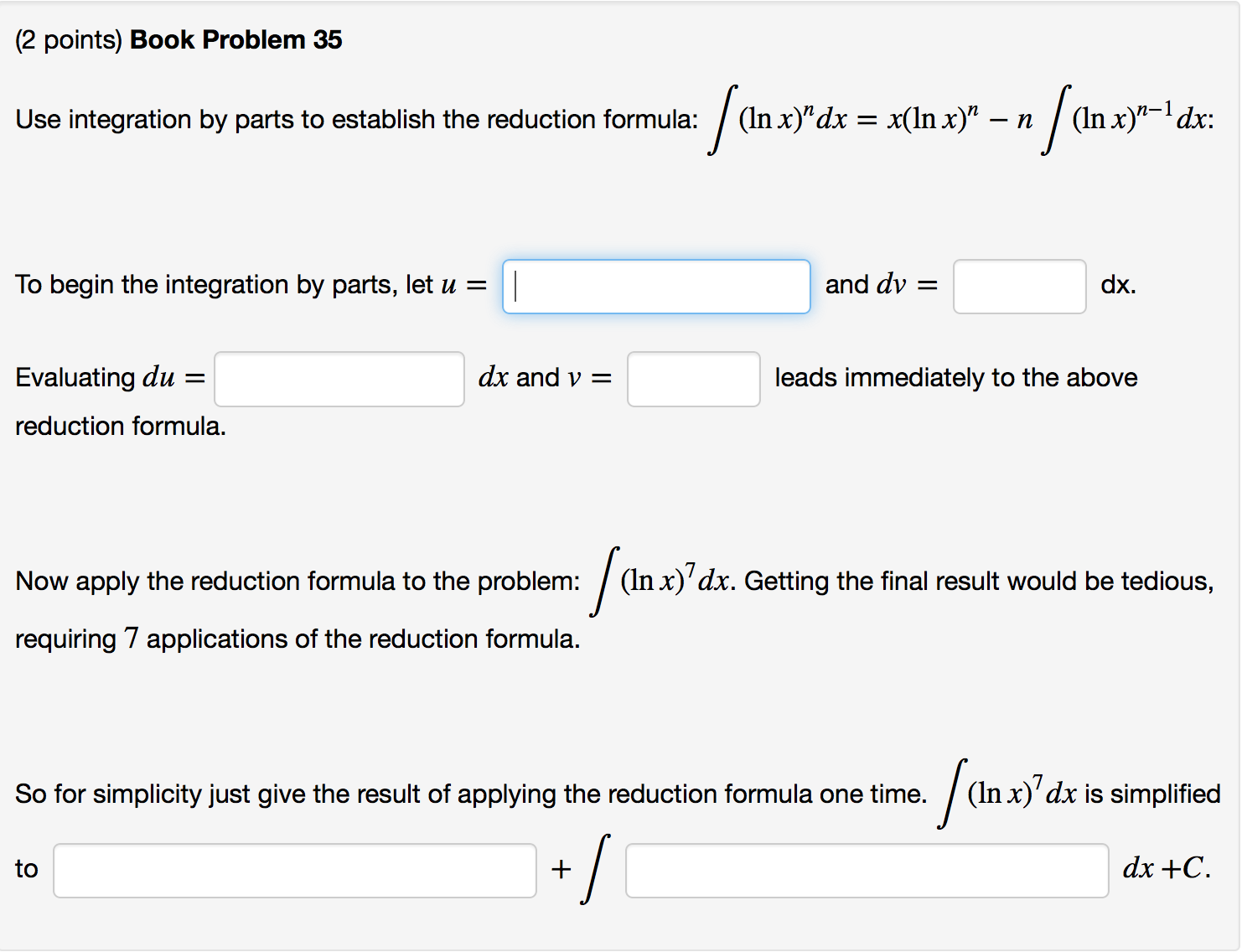 Book problem 35 use integration by parts to establ chegg book problem 35 use integration by parts to estab sciox Choice Image