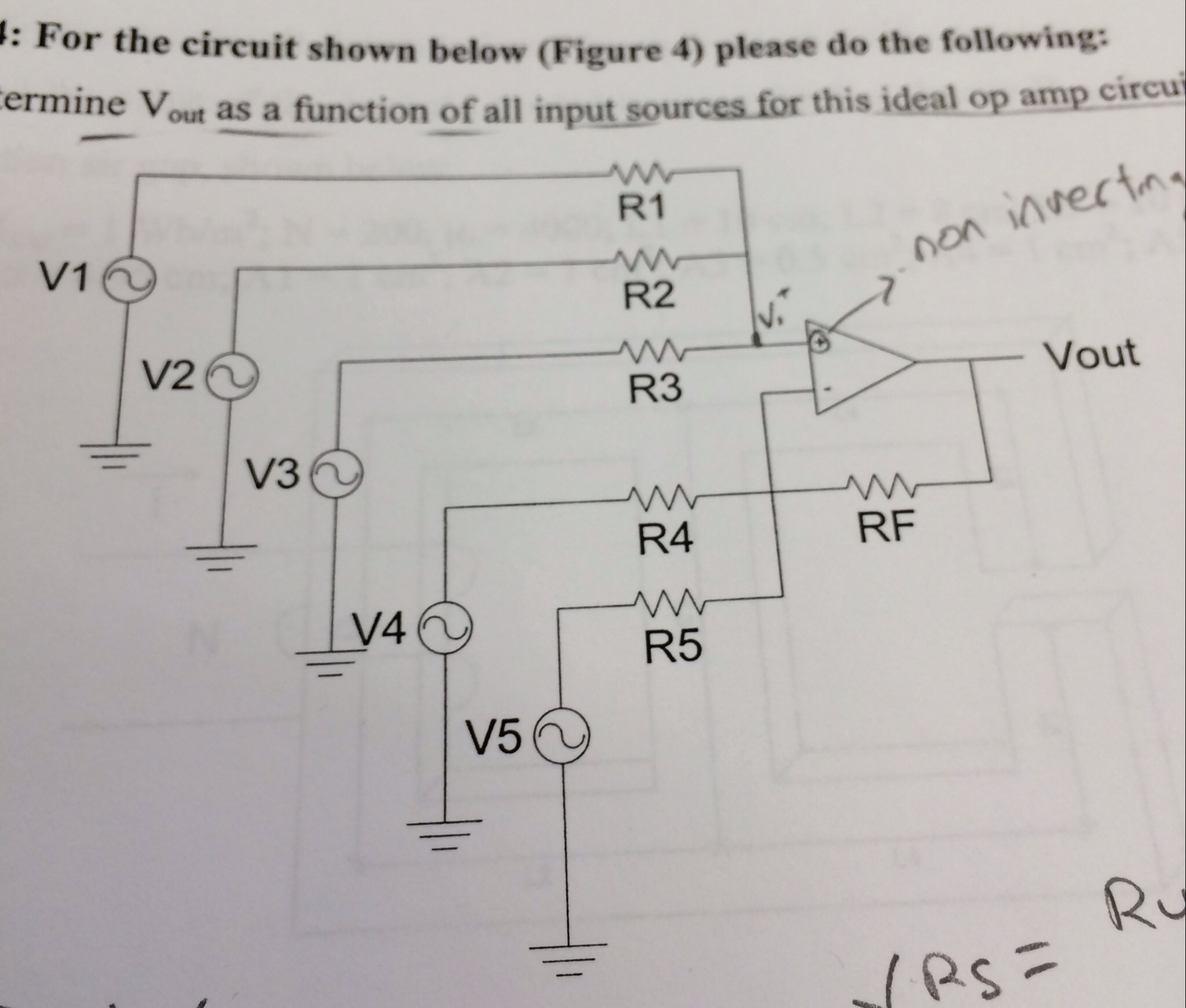 For the circuit shown below (Figure 4) please do t