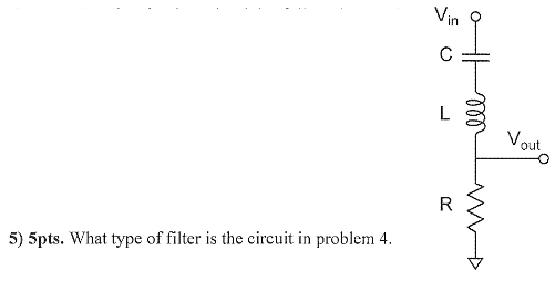 What type of filter is the circuit in problem 4.