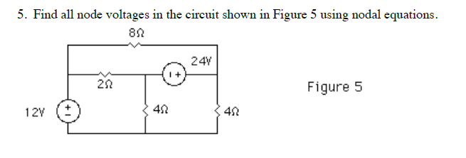 Find all node voltages in the circuit shown in Fig
