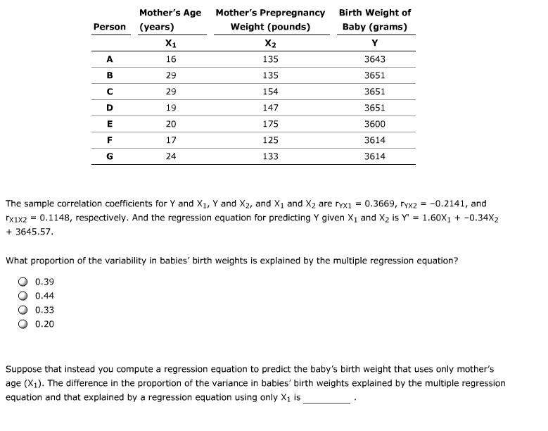 multiple regression questions and answers pdf