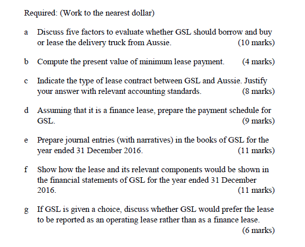 Question: GrandStone Limited (u0027GSLu0027) Was Set Up More Than A Decade Ago With  A Financial Year End At 31 Dece.