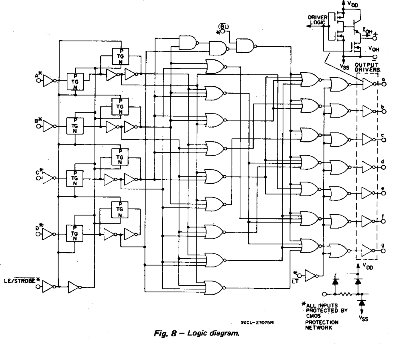 Circuit Diagram For 7 Segment Decoder Wiring Landor Logic Display Given The Following Schematic From Texas Instr Chegg Com