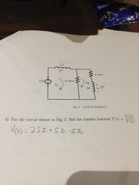Fig. 2. Circuit for Problem 4 For the circuit s