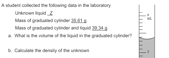 how to find the density of an unknown liquid