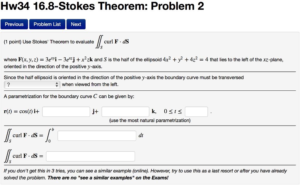 Use Stokes' Theorem To Evaluate Doubleintegral_S C...   Chegg.com