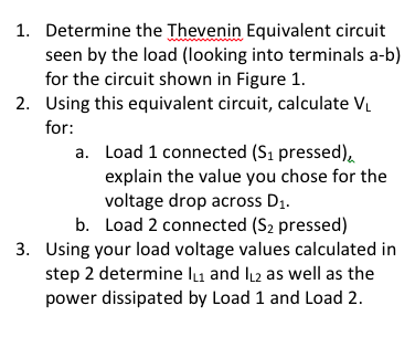 Determine the Thevenin Equivalent circuit seen by