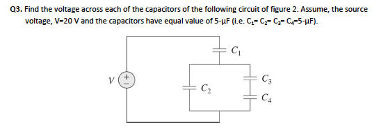 The voltage across a 10-mu F capacitor is shown in