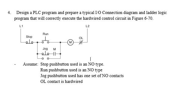 Solved design a plc program and prepare a typical io con design a plc program and prepare a typical io con ccuart Choice Image
