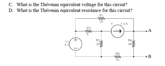 What is the Thevenin equivalent voltage for this c
