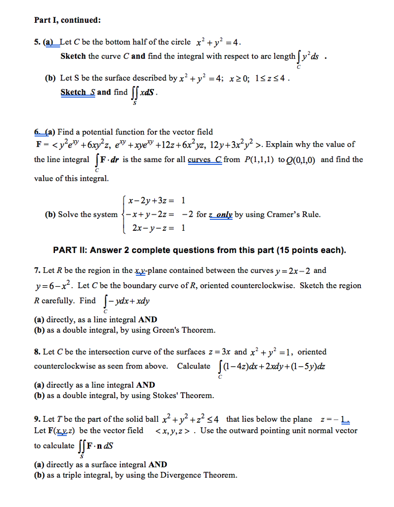 How To Find Surface Area Using Double Integrals By Alfred Aho Part Answer  5plete Questions From