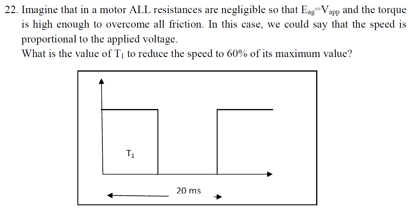 Imagine that in a motor ALL resistances are neglig