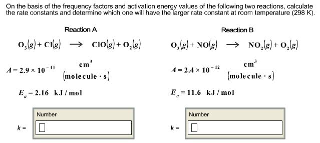 Calculate the rate constants and determine which o