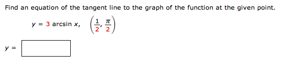 Find an equation of the tangent line to the graph