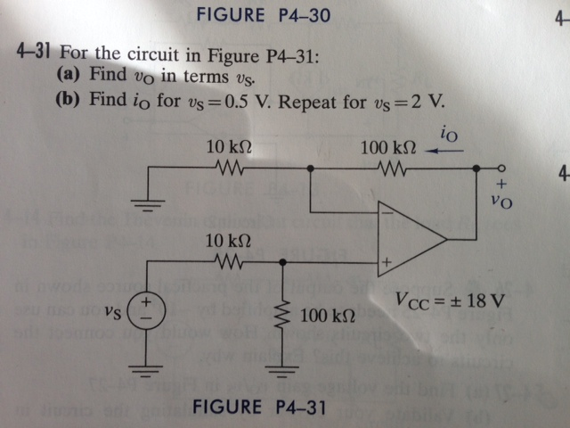 For the circuit in Figure P4-31: Find upsilonO in