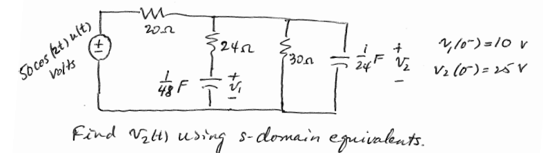 You need to do laplace domain circuit equivalent