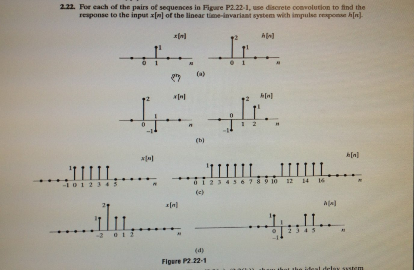 For each of the pair* of sequences in Figure P2.22