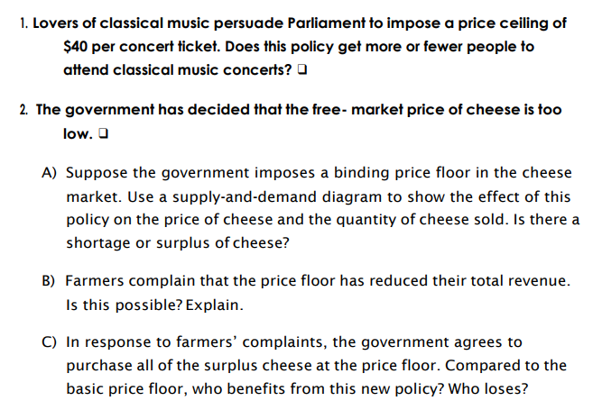 Lovers Of Classical Music Persuade Parliament To Impose A Price Ceiling Of  $40 Per