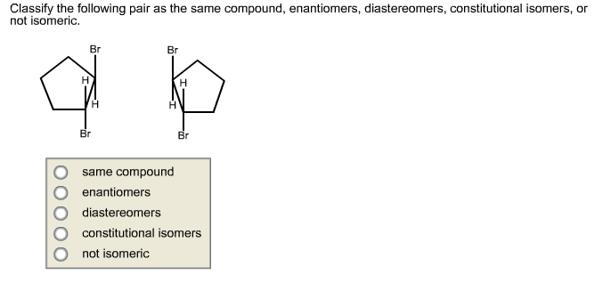 Classify the following pair as the same compound,