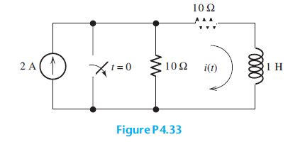 The circuit shown in Figure P4.33 is operating in