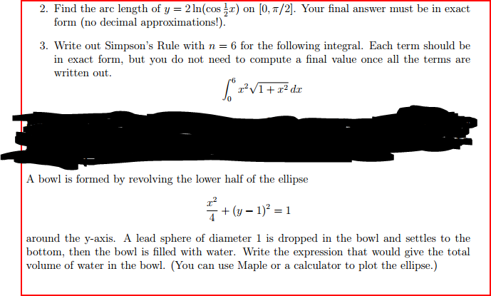Find The Arc Length Of Y = 2 Ln(cos 1/2x) On [0, P... | Chegg.com