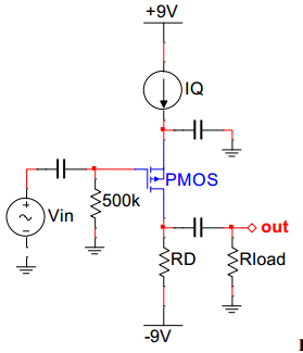 For the common-source amplifier shown in Figure 5,