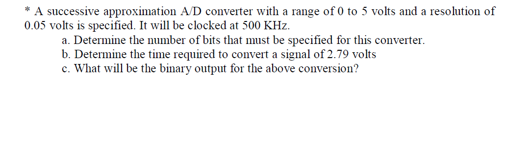 A successive approximation A D converter with a ra