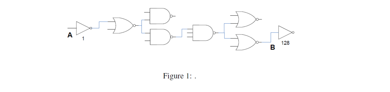Given the circuit as shown in Fig. 1. The numbers