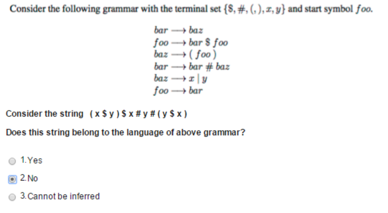 Solved consider the following grammar with the terminal s consider the following grammar with the terminal s biocorpaavc