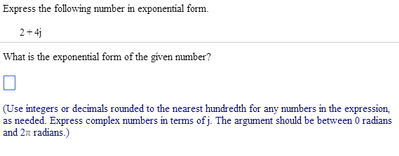 Express The Following Number In Exponential Form. ... | Chegg.com