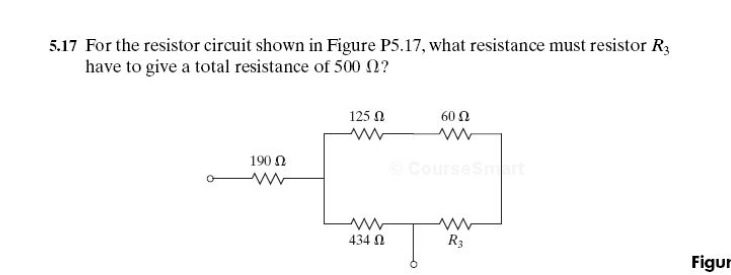 For the resistor circuit shown in Figure P5.17, wh