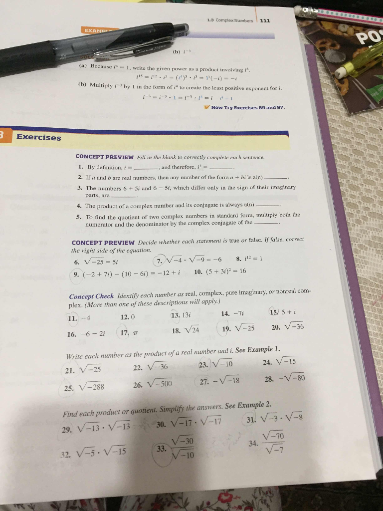 13 complex numbers 111 po b i a because i1 w chegg 13 complex numbers 111 po b i a because i1 write falaconquin