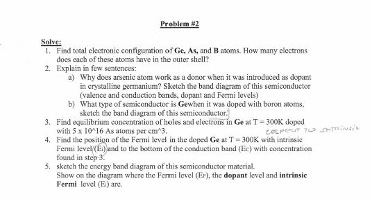 Solve: Find total electronic configuration of Ge,
