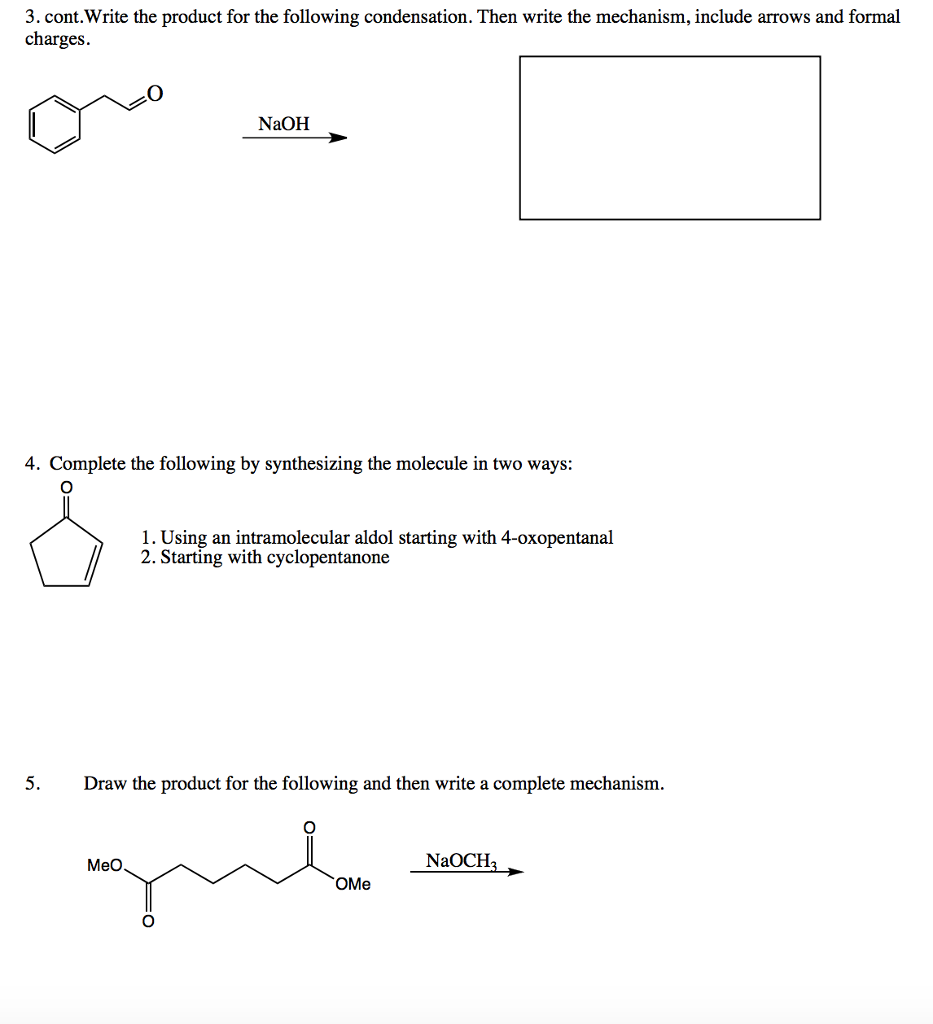 1 Propose A Mechanism For The Following Transform – The Complete Organic Chemistry Worksheet