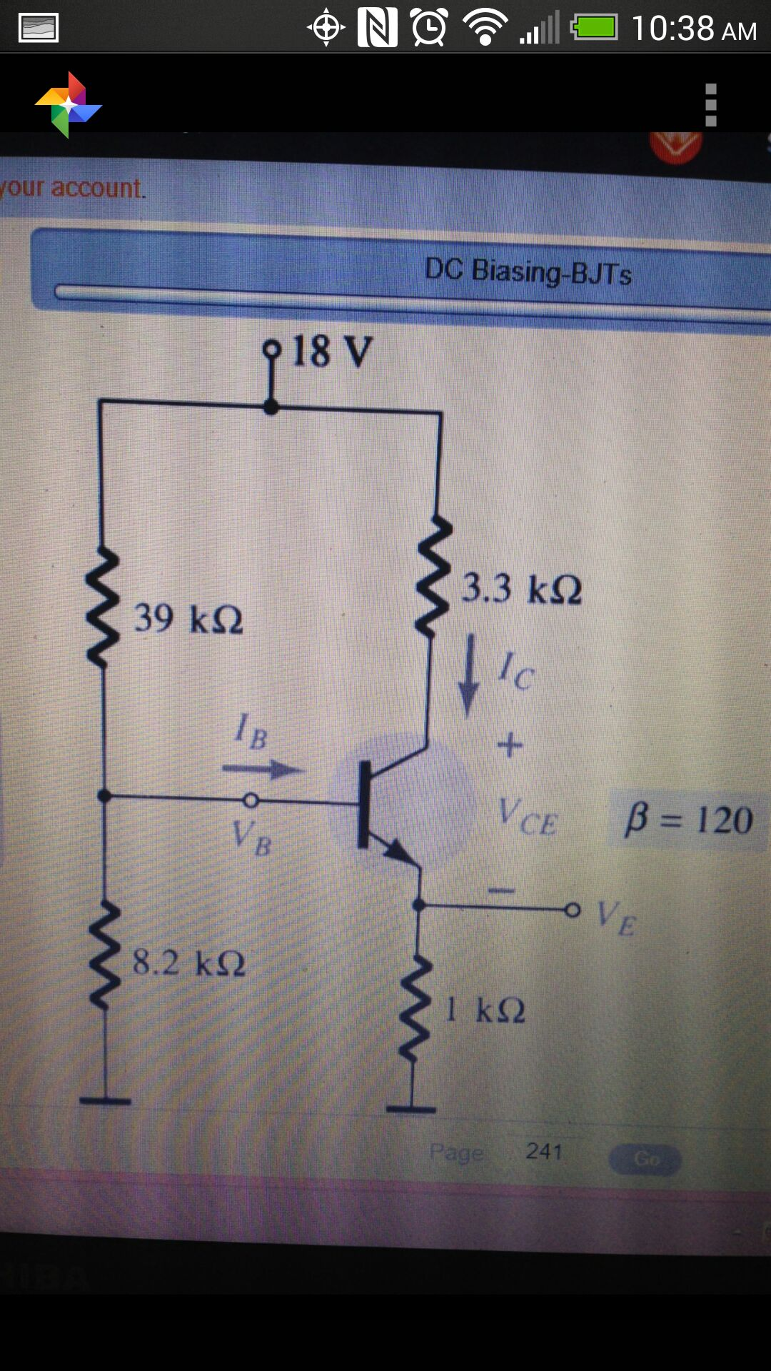 Find IC, VCE, IE, VE using both the approximate me