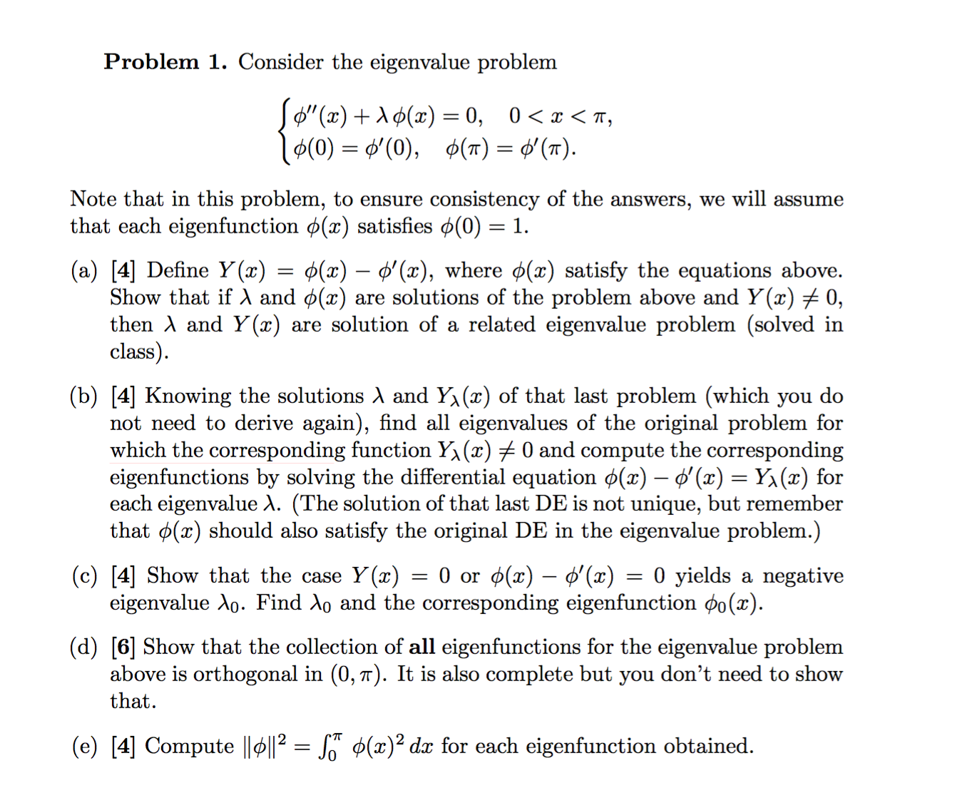 how to solve eigenvalue problem