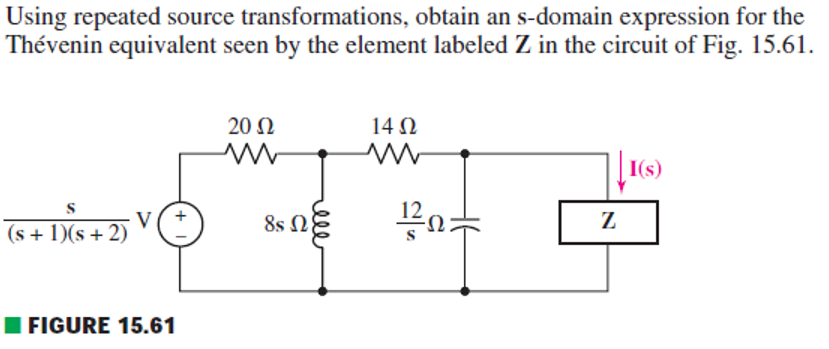 Using repeated source transformations, obtain an s