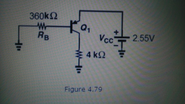 In the circuit of Fig. 4.67, ? = 100 and VA = In