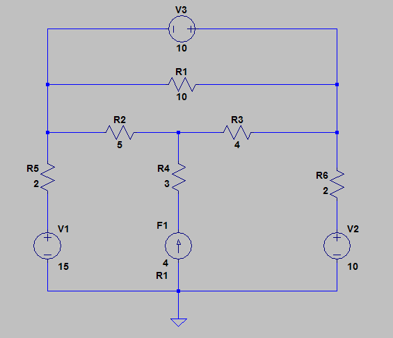 Find va, vb, vc, and i0 in the following circuit u