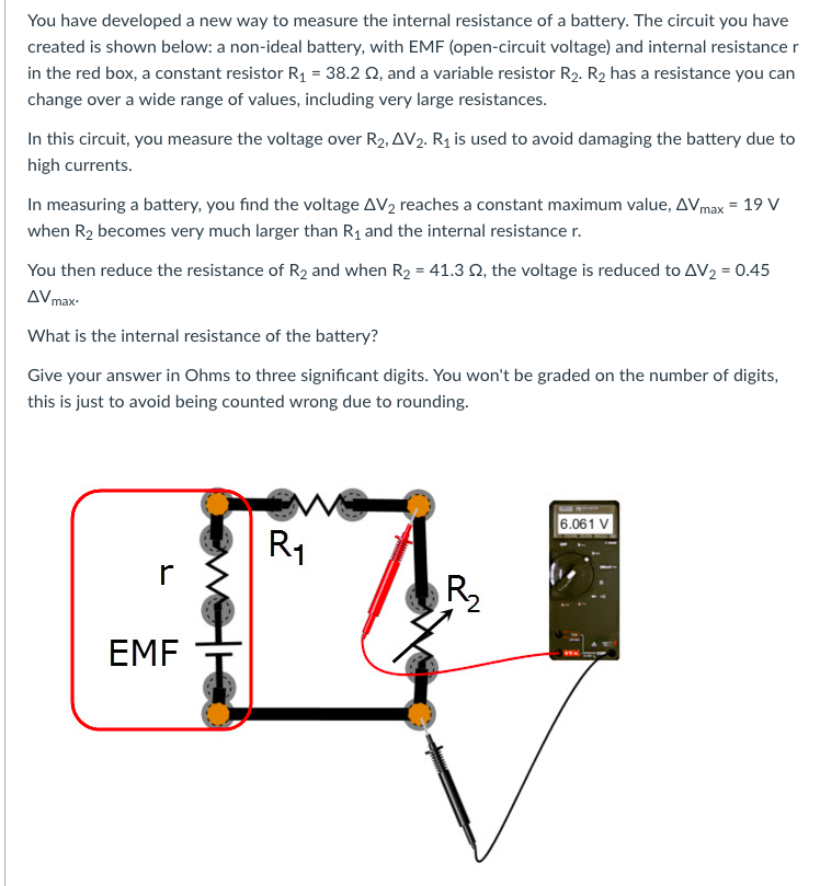 how to find source voltage and internal resistance