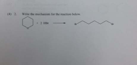 Write the mechanism for the reaction below.