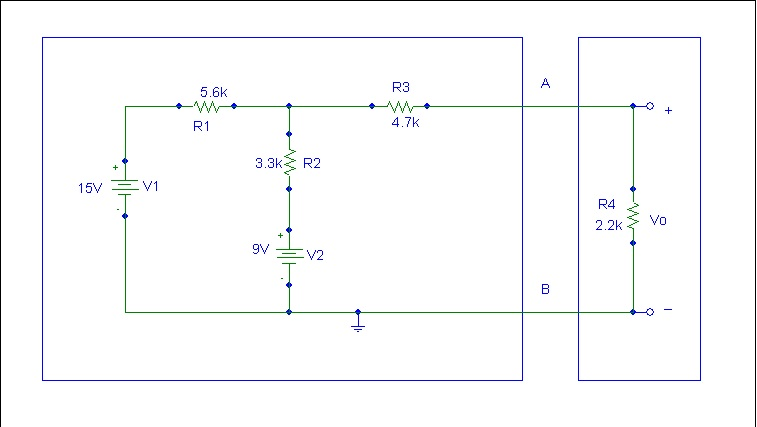 Find the Voltage Vo across 2.2K ohm resistor in th