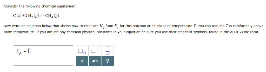 Solved Consider The Following Chemical Equilibrium Cs