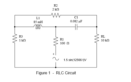Figure 1 - RCL Circuit Connect the circuit shown i