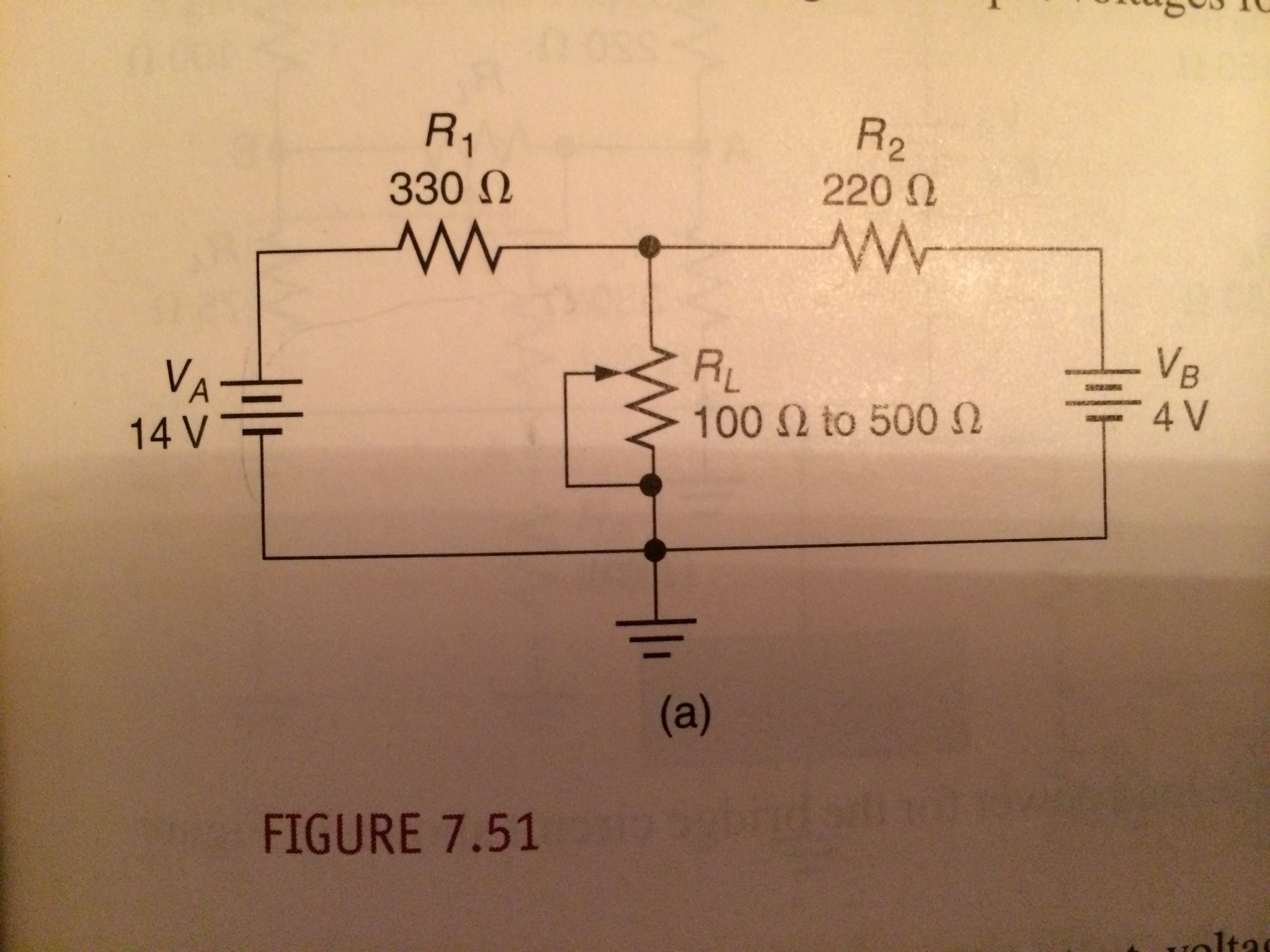 Calculate the normal range of output voltages for