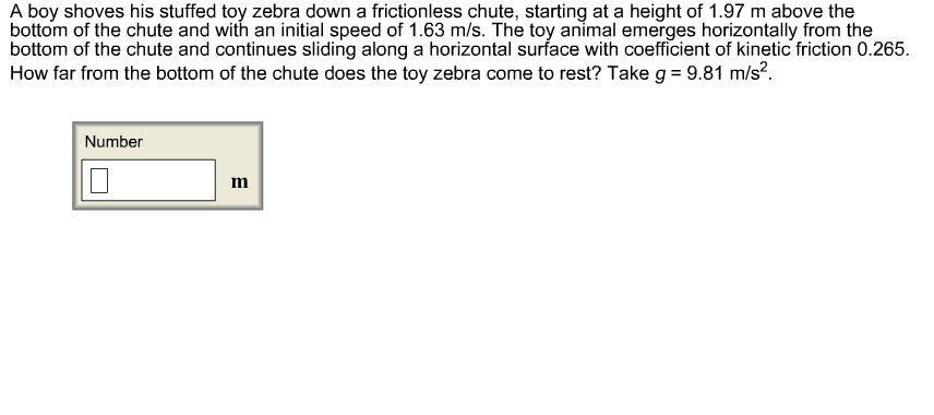 A boy shoves his stuffed toy zebra down a friction