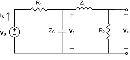 In the network in the figure, the voltage source h